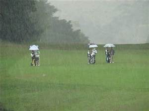 Rain on Golf Course